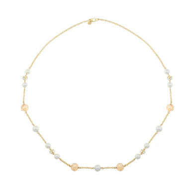 jcpenney.com | Monet Jewelry White And Goldtone Station Necklace