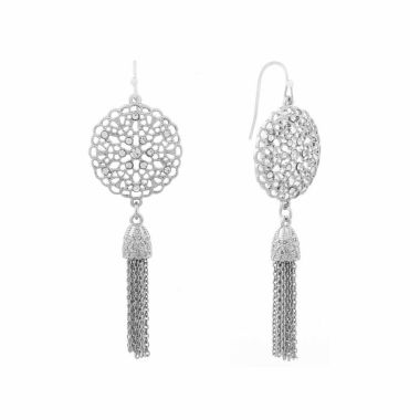 jcpenney.com | Liz Claiborne White Drop Earrings
