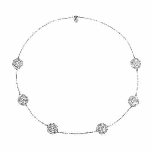 Liz Claiborne Womens Clear Strand Necklace
