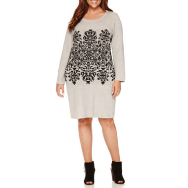jcpenney.com | Studio 1 Long Sleeve Sweater Dress-Plus