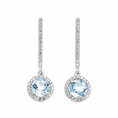 jcpenney.com | Diamond Accent Blue Topaz Sterling Silver Drop Earrings