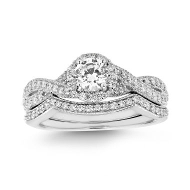 jcpenney.com | Womens 3/4 CT. T.W. White Diamond 14K Gold Bridal Set