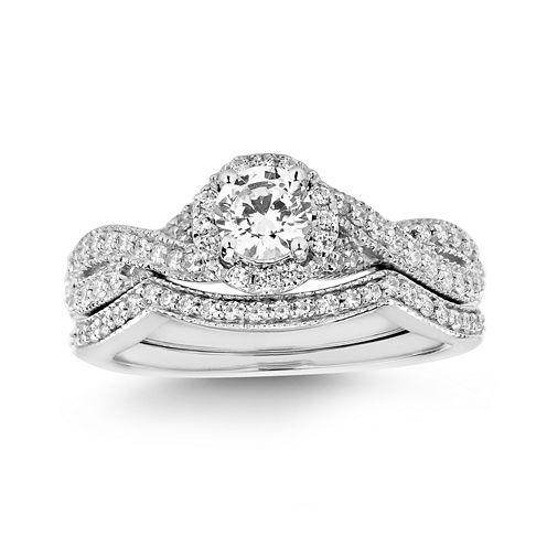 Womens 3/4 CT. T.W. White Diamond 14K Gold Bridal Set