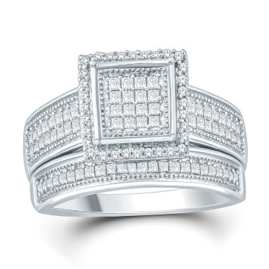 jcpenney.com | Womens 1/2 CT. T.W. White Diamond Bridal Set