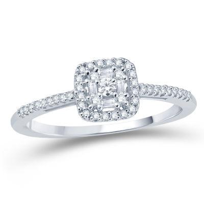 Fine Jewelry Womens 1 CT. T.W. White Diamond 10K Gold Band ZmSmJH