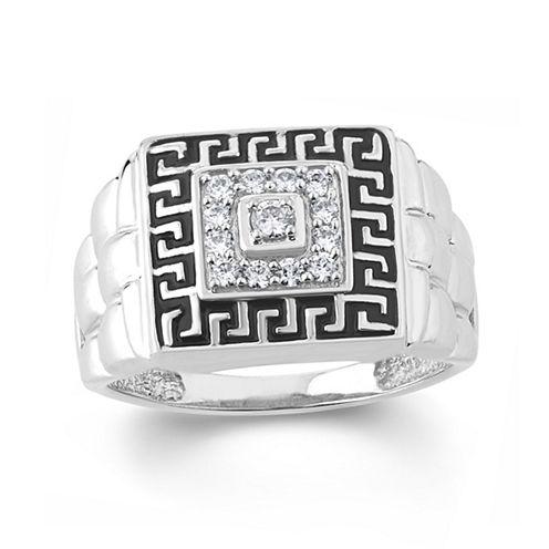 Mens 1/3 CT. T.W. White Diamond 10K Gold Band