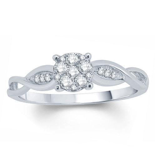 1/5 CT. T.W. Round White Diamond 10K Gold