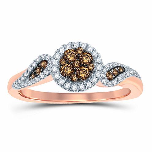 3/8 CT. T.W. Round Champagne Diamond 10K Gold
