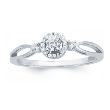 jcpenney.com | 1/4 CT. T.W. Round White Diamond 10K Gold