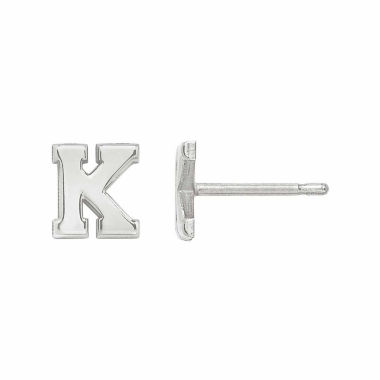 jcpenney.com | Personalized Polished Initial Stud Earring