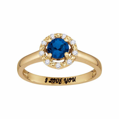 jcpenney.com | Personalized Birthstone & Cubic Zirconia Halo Ring