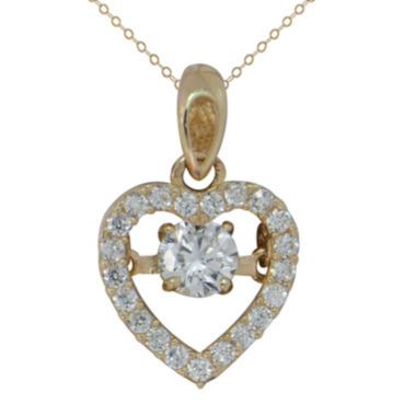 jcpenney.com | Petite Lux Womens White Cubic Zirconia 10K Gold Pendant Necklace