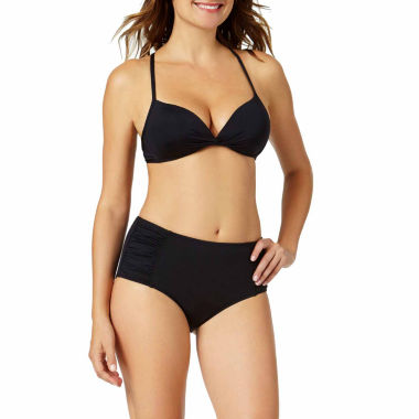 jcpenney.com | a.n.a® Solid Knit Push-Up Swim Top