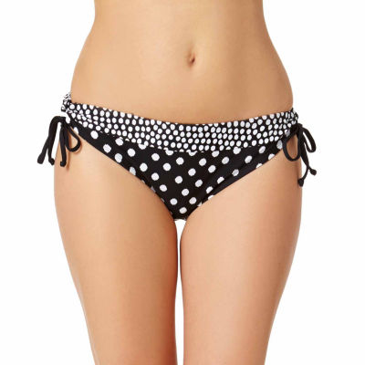 a.n.a® Mix & Match Knit Polka-Dot Keyhole Hipster Swim Bottoms