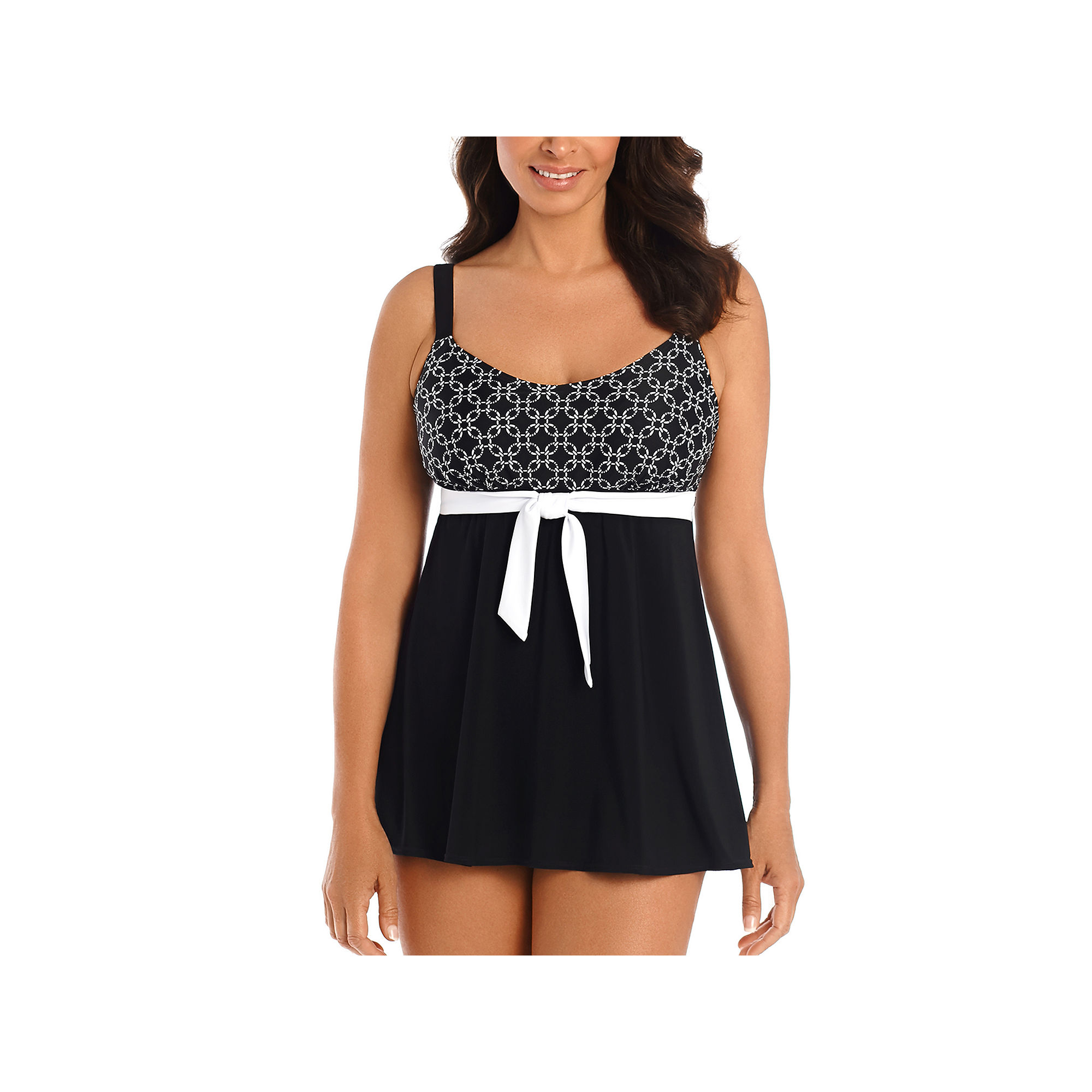 Robby Len By Longitude Solid Swim Dress plus size,  plus size fashion plus size appare