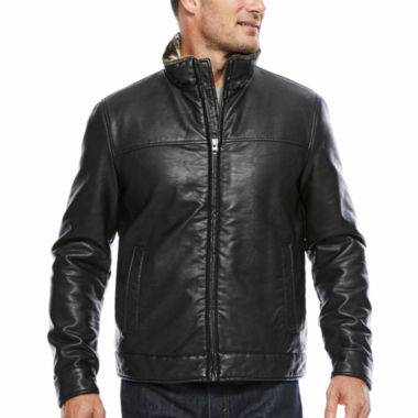 jcpenney.com | Dockers Faux Leather Stand Collar Jacket