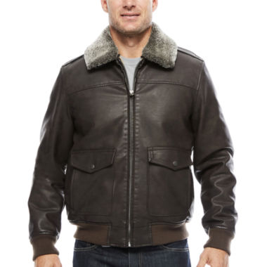 jcpenney.com | Dockers Faux Leather Bomber With Sherpa Collar