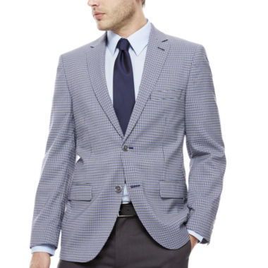 jcpenney.com | The Savile Row Navy White Plaid Sport Coat-Slim Fit
