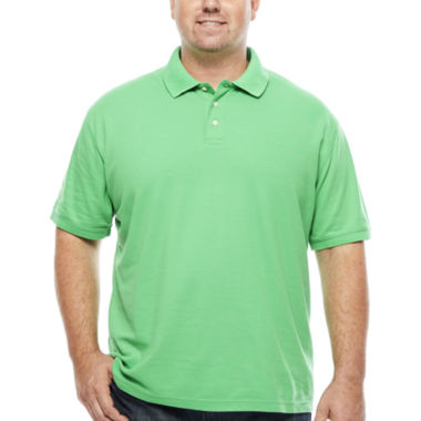 jcpenney.com | The Foundry Big & Tall Supply Co. Short Sleeve Solid Woven Polo Shirt Big and Tall