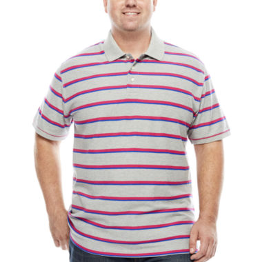 jcpenney.com | The Foundry Big & Tall Supply Co. Short Sleeve Striped Easy Care Pique Polo