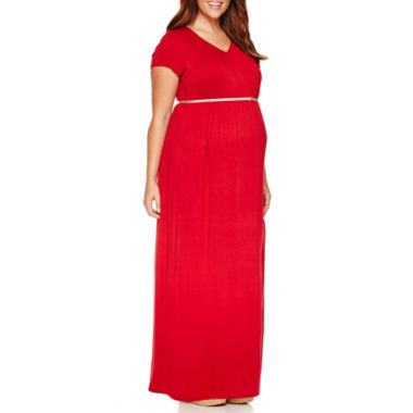 jcpenney.com | Short Sleeve Maxi Dress-Plus Maternity