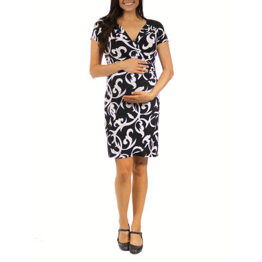 jcpenney.com | 24/7 Comfort Apparel Wrap Dress-Maternity