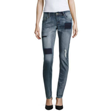 jcpenney.com | Almost Famous Patched Boyfriend Skinny Jeans-Juniors