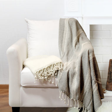 jcpenney.com | 100% Cotton Anchor Shores 2 Pack Throws