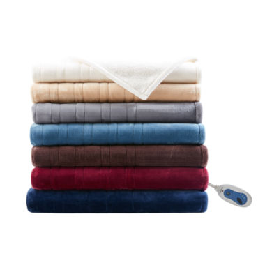 jcpenney.com | Woolrich Oversized Plush To Berber Heated Throw