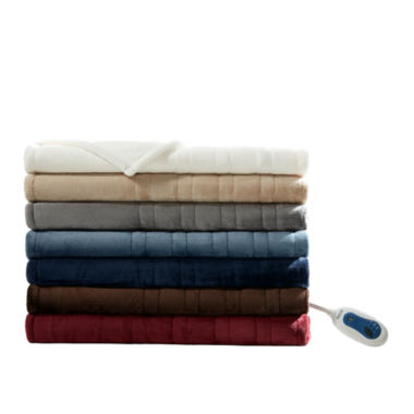 jcpenney.com | Beautyrest Oversized Microlight To Berber Heated Throw