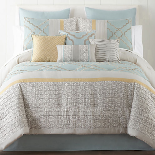 Home expressions gretchen 10 pc comforter set jcpenney for Jcpenney bedroom furniture sale