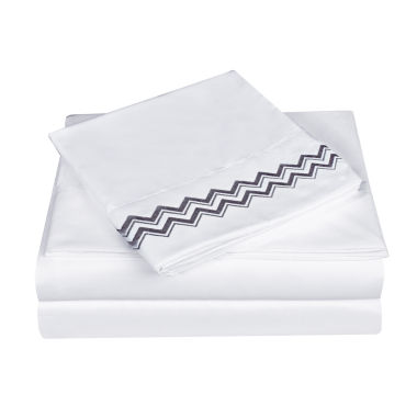 jcpenney.com | Swift Home Chevron Embroidered Microfiber Sheet Set