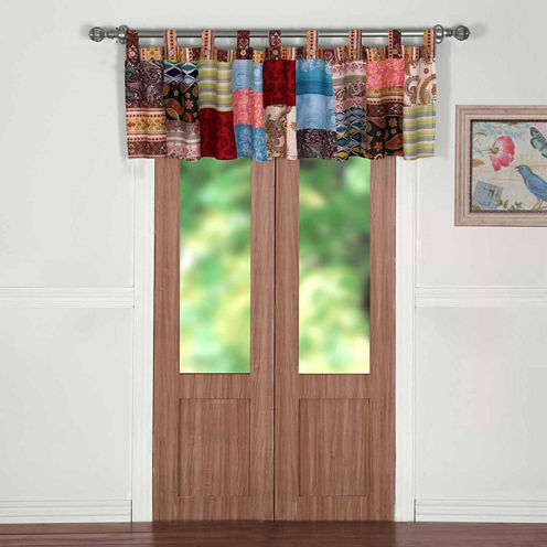 Greenland Home Fashions Bohemian Dream Tab-Top Valance