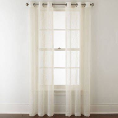 jcpenney.com | Home Expressions Nora 2-Pack Grommet-Top Sheer Curtain Panel