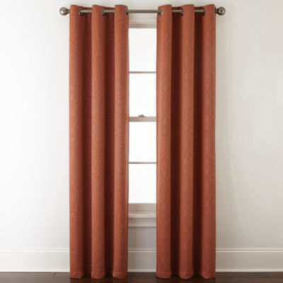 Home Expressions Norris 2 Pack Grommet Top Curtain Panels