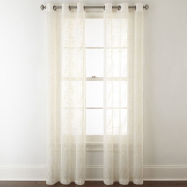 jcpenney.com | Home Expressions Riley 2-Pack Grommet-Top Sheer Curtain Panel
