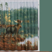 Back Bay Moose Shower Curtain
