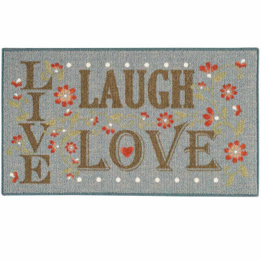jcpenney.com | Live Love Laugh Rectangular Rug