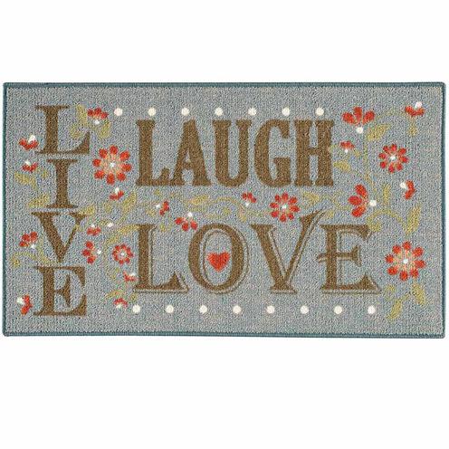 Live Love Laugh Rectangular Rug