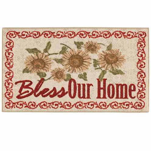 Bless Our Home Rectangular Rug