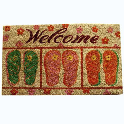"""PVC Flip Flop Rectangular Doormat - 18""""X30"""""""