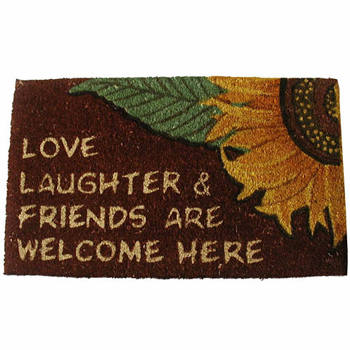 Love & Laughter Rectangle Doormat