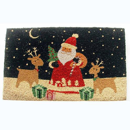 """Santa's Reindeer Rectangle Doormat - 18""""X30"""""""