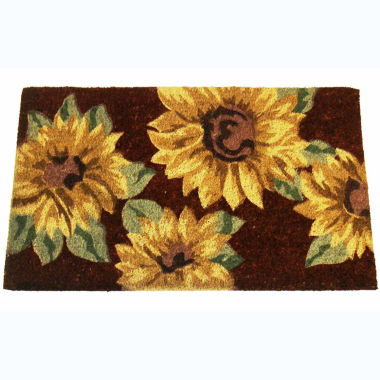 "jcpenney.com | Sunflowers Rectangular Doormat - 18""X30"""