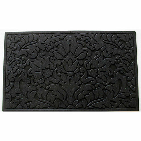 "Leaf Scroll Rectangular Doormat - 18""X30"""