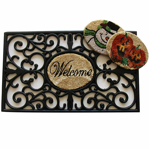 "Interchangeable Rectangle Doormat - 18""X30"""