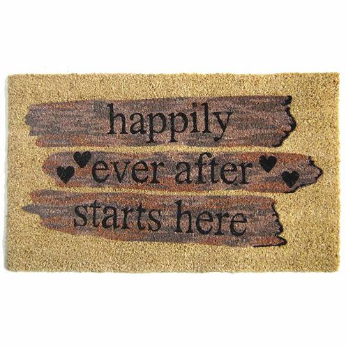 """Happily Ever Rectangular Doormat - 18""""X30"""""""