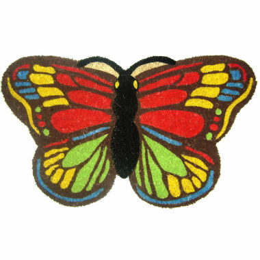 "jcpenney.com | Colorful Butterfly Rectangular Doormat - 18""X30"""