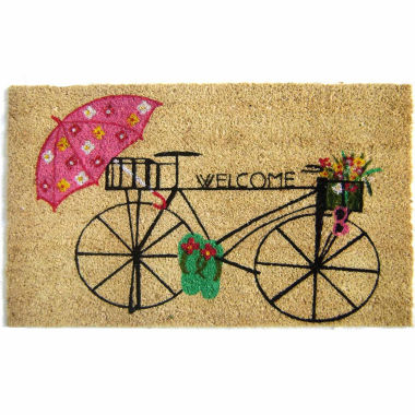 "jcpenney.com | Bicycle Welcome Doormat - 18""X30"""