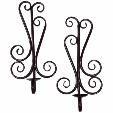 jcpenney.com | Scrolled Metal Candle Sconce- Set of 2